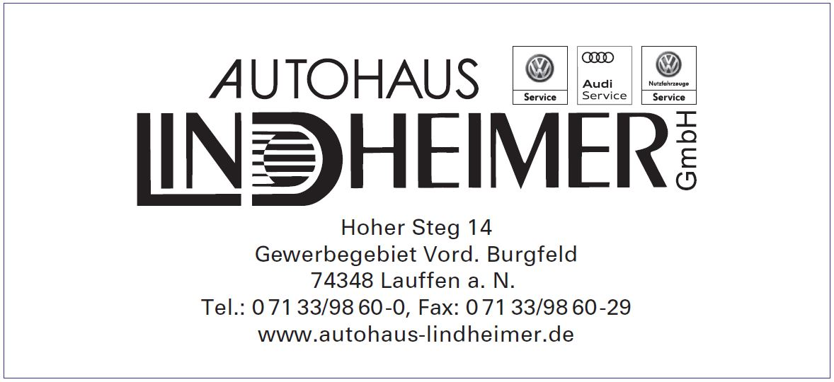 Autohaus Lindheimer Sponsor 2018